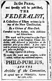Considerations of Our Constitution: The Federalist Papers